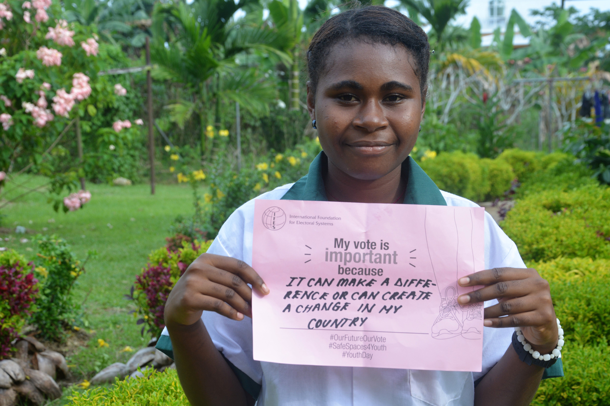 A Bougainvillean student explains that her vote is important because she can make a difference.